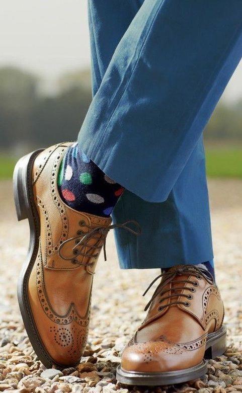 Dress shoes men, Tan brogues