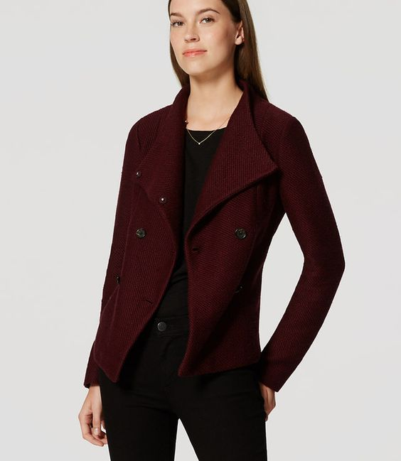 Primary Image of Petite Pebbled Knit Peacoat