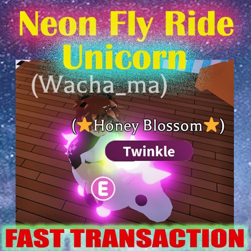 Roblox Adopt Me Legendary Pet Neon Fly Ride Unicorn Named Honey Blossom In 2020 Roblox Game Codes Lol Dolls