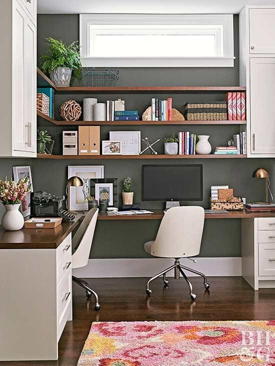 This Small Bungalow Makes The Most Of Its Little Layout Home Office Design Home Office Space Home