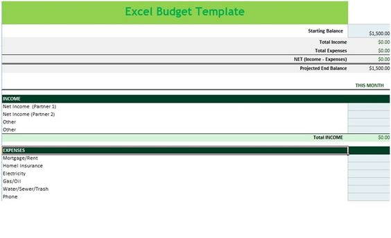 Income and Expense Budget Spreadsheet Template in MS Excel u2013 Excel - monthly salary statement