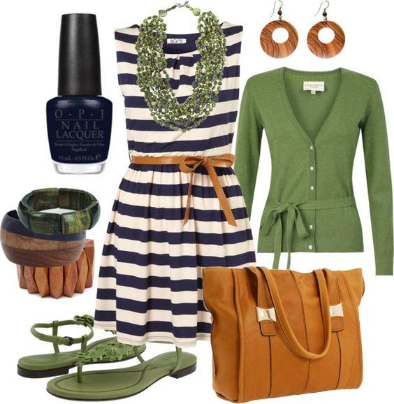 spring green & navy