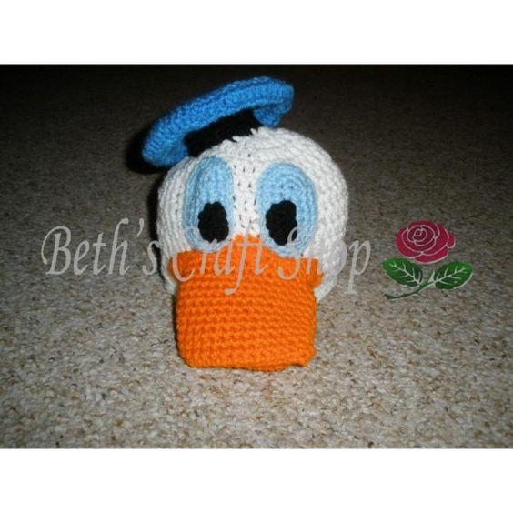 Disney - Donald Duck Crochet Hat: Crochet Children S Hats, Crafting Crocheting, Craft Crocheting, Hats Crochet, Crochet Character, Knit Crochet Hats, Baby Crochet, Crocheted Hats, Crochet Hats Character