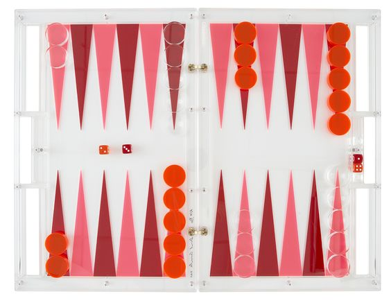 Daniel Chadwick — Backgammon Set - Fluo Pink F333 and Mars Red Fluo 4T56