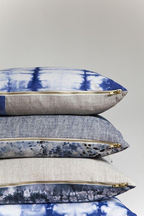 Lattice Shibori Pillows: Remodelista