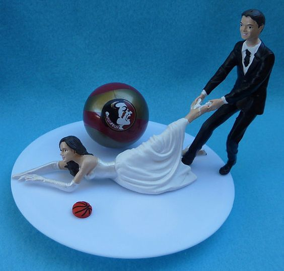 basketball themed wedding cake toppers wedding cake topper florida state seminoles fsu 11104