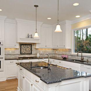 Blue Pearl Granite Houzz Home Decor In 2020 Kitchen Remodel Countertops Granite Countertops Kitchen Granite Kitchen