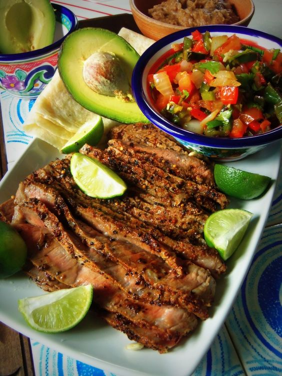 strip steak skirt steak carne asada recipe corn tortillas yummy food ...