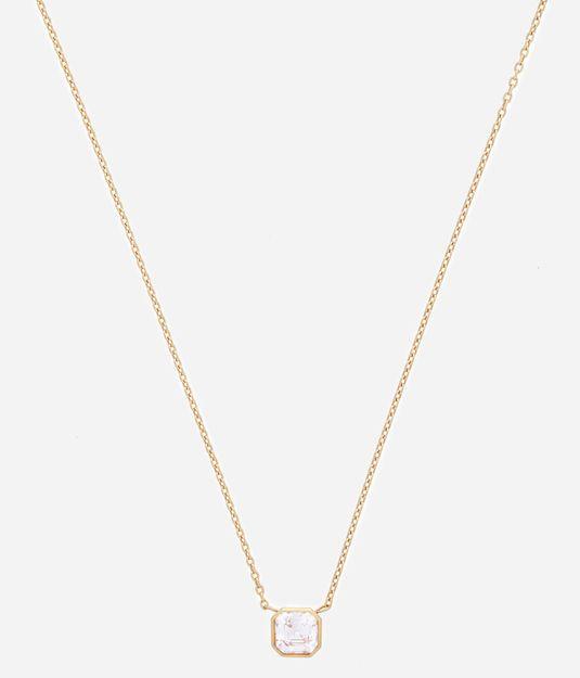 Luxe Asscher Cut Short Pendant Necklace | Holiday Catalog | Henri Bendel