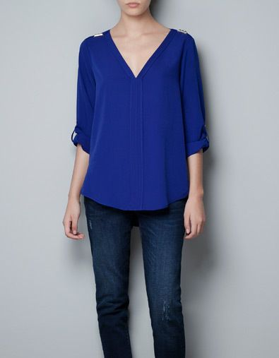 Royal Blue Blouse Womens Photo Album - Reikian