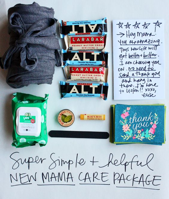 This is one of my favorite favorite favorite ideas ever. For real. New mama care package by @eliseblaha