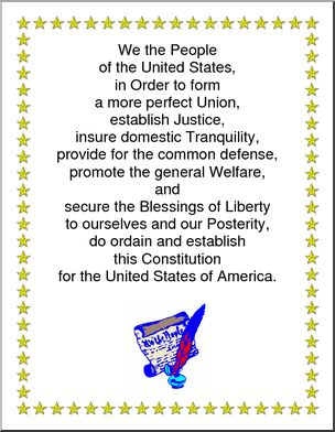 Poster: Preamble to the Constitution