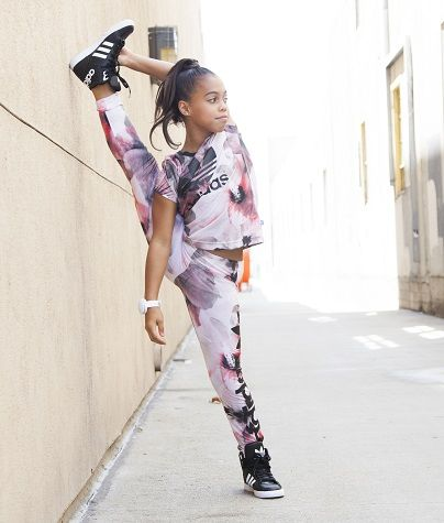 Image result for asia monet doing gymnastics