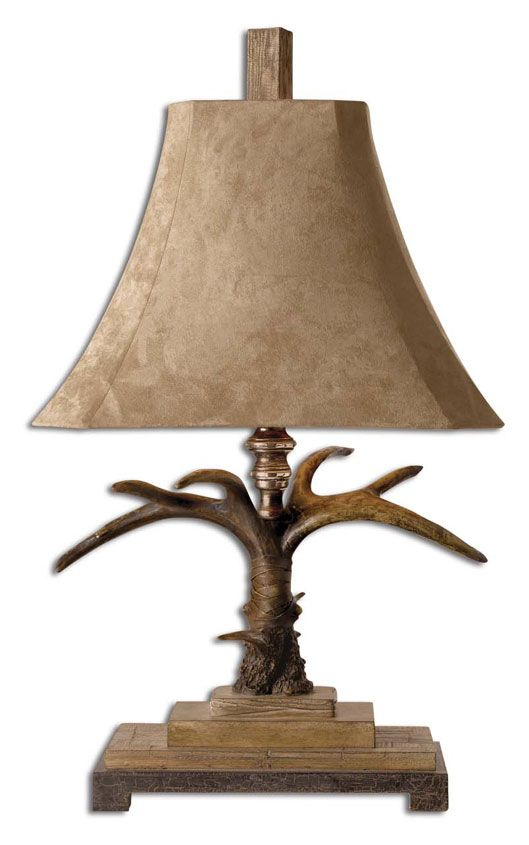 Uttermost 27208 Stag 31 Inch Tall Rustic Table Lamp Natural Brown Utt 27208 Table Lamp Rustic Table Lamps Natural Table Lamps