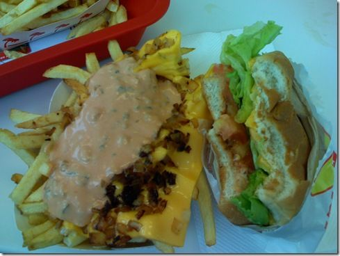 ... in the world. Animal style fries and grilled cheese. I heart in-n-out