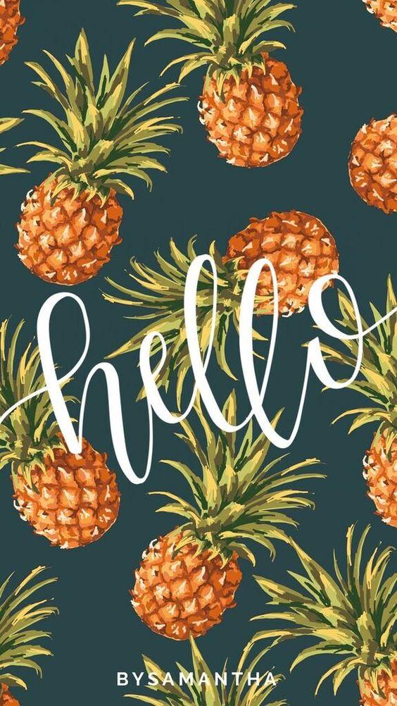 Dropbox - iPhone Wallpaper - Hello Pineapples.jpg