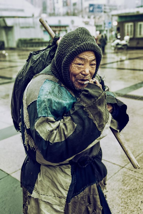 Homeless in Shanghai, China: