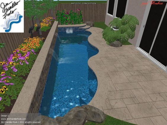 Small swimming pool designs swimming pool design big ideas for small yards jim chandler - Swimming pool designs small yards ...