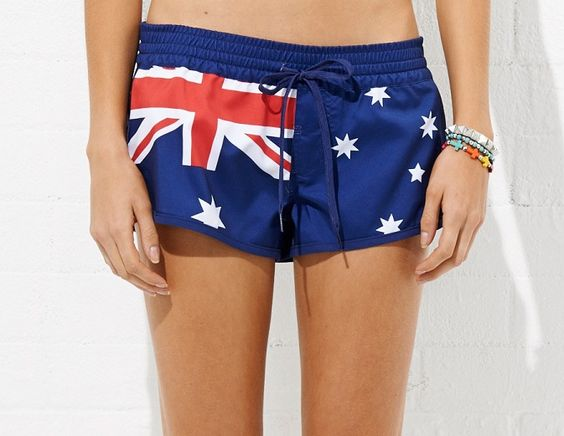 Australia Day Boardie Girls Australia day boardshort. Line Number: 921253 Fabric: Satin Back Microfiber Colour: Blue Flag