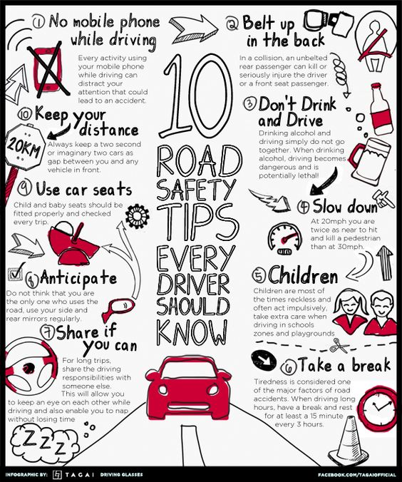 Road Safety Tips Every Driver Should Know | Cool Daily Infographics #roadtrip #travel