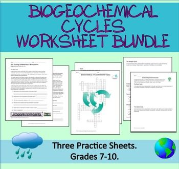 Printables Biogeochemical Cycles Worksheet crossword worksheets and puzzles on pinterest a bundle of 3 all about biogeochemical cycles water carbon nitrogen