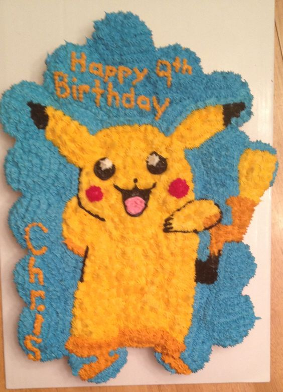 Pokemon Cupcake Cake: