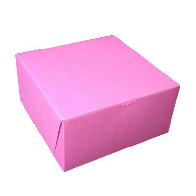 "5"" x 10"" Tuck-Top Bakery Boxes in Pink"