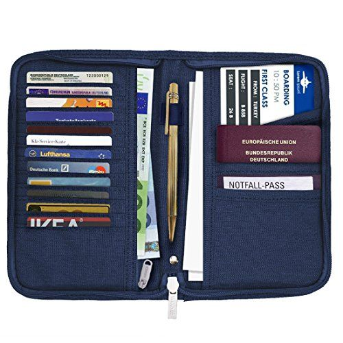 Newest cuir Porte-passeport Voyage portefeuille RFID blocking ID Card Case Cover