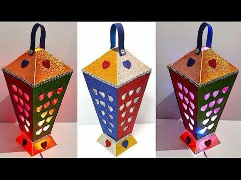 Diy Lantern Tealight Holder With Glitter Sheet Diy Christmas Decorations Idea Youtube Diy Lanterns Christmas Decor Diy Paper Crafts Diy Kids