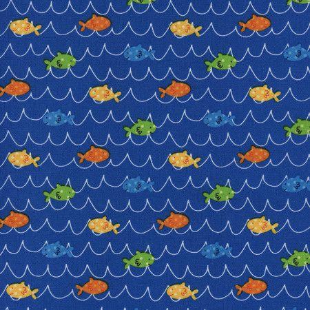 Splash by Timeless Treasures - Fish (Blue)