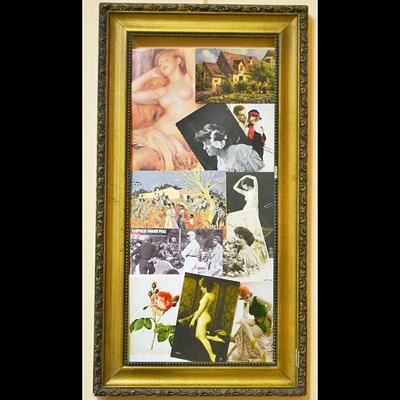 #безфильтра #коллаж #винтаж #антиквариат #открытки #винтажныеоткрытки #антикварныеоткрытки #vintage #antique #postcard #postcards #vintagepostcard #antiquepostcard #коллаж  Вчера вечером перебирала коллекцию открыток (часть - старинные) и решила таки заполнить пустую раму, которая у меня над компом висит :)