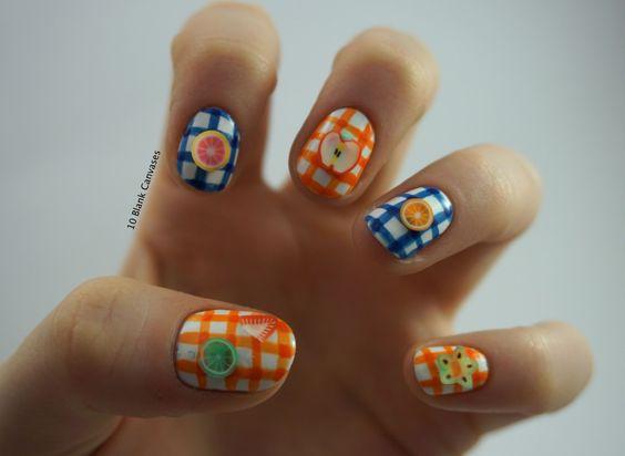Summery nails using Winstonia Store brushes http://nailsfun.us #nail #art #nail_art #nail_design #nails