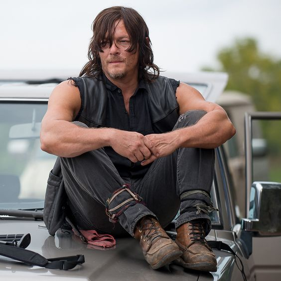 Norman Reedus got naked on the #TWD set.
