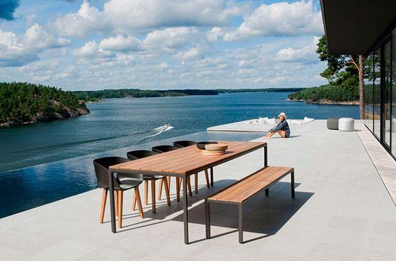 Decoración al aire libre minimalista escandinava