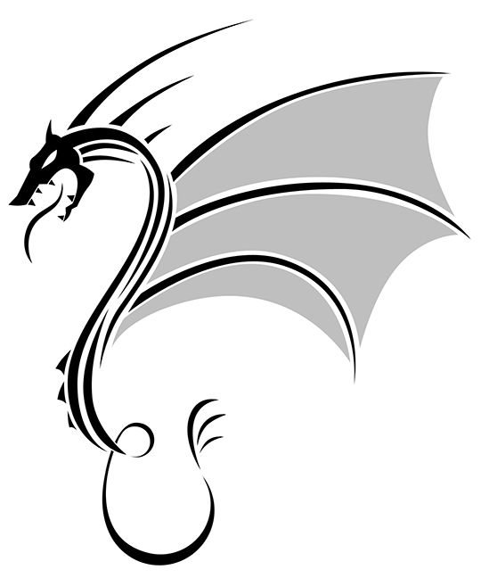 Simple Fire Breathing Dragon Drawing