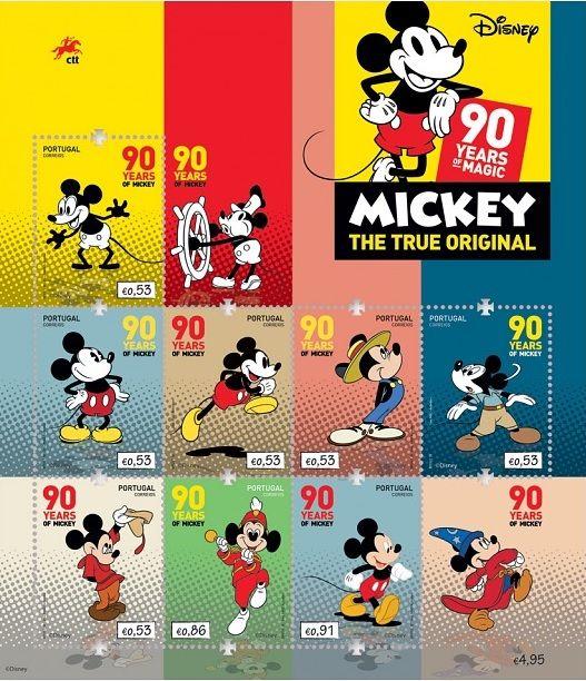 DISNEY CLASSIC Mickey 90th 10Pk Deluxe Figure Set Multi-Color