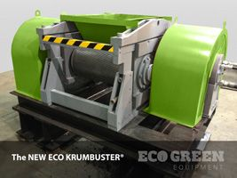 The ECO KRUMBUSTER® is the capstone component to any rubber recycling and processing system. The unit can process up to 2 tons of rubber into fine 60-mesh rubber powder output.