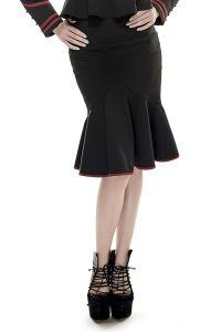 Military Pencil Skirt mit Rüschensaum