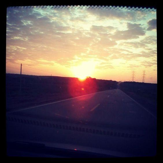 Nascer do sol em Três Lagoas em Mato Grosso do Sul