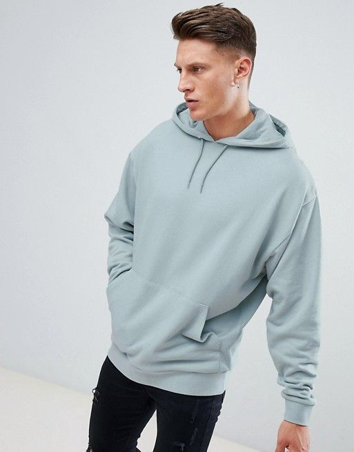 Asos Design Oversized Hoodie In Gray Mens Outfits Latest Mens Fashion Hoodies