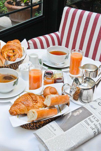 Petit-déjeuner - Hotel de L'Abbey, Paris