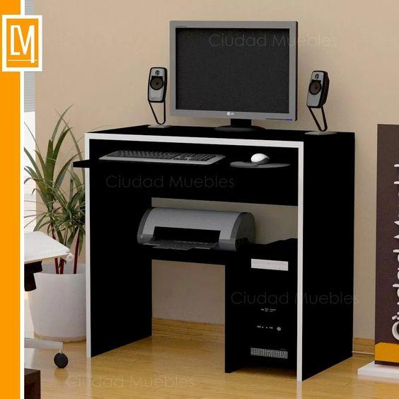 Mesa de pc computadora escritorio de dise o unico mesas for Diseno de muebles de escritorio