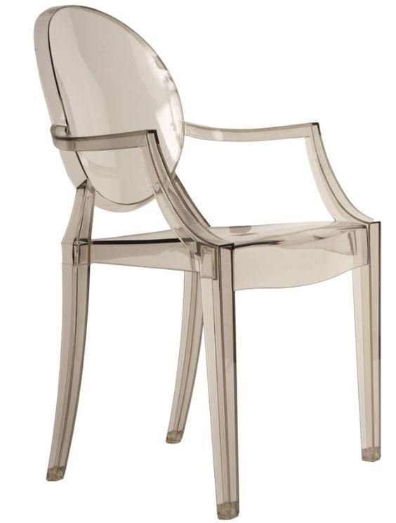 The Matt Blatt Replica Philippe Starck Louis Ghost Armchair - Smoke
