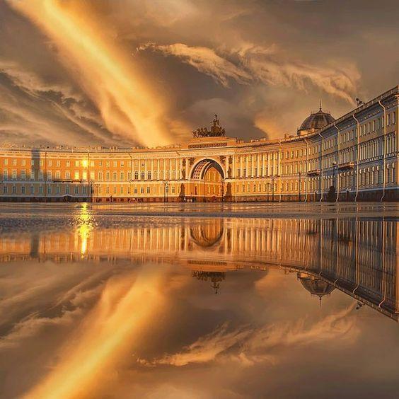 St. Petersburg's sky, Russia: