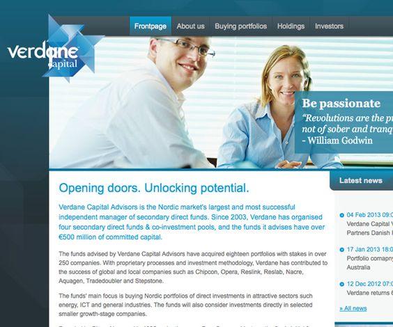 Verdane Capital - Verdane Capital funds är ett ledande nordisk aktör inom handel av bolag och bolagsportföljer.
