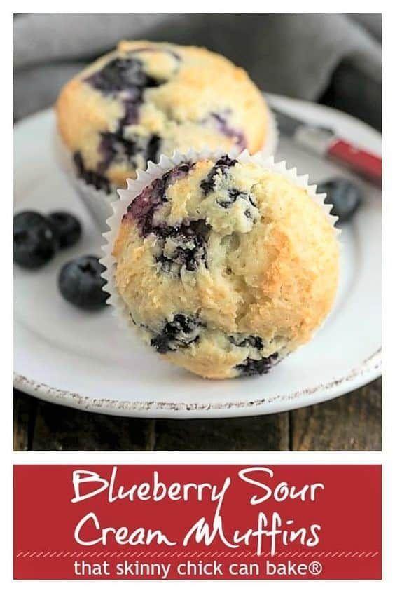 Blueberry Sour Cream Muffins Recipe Sour Cream Muffins Sour Cream Blueberry Muffins Sour Cream Recipes