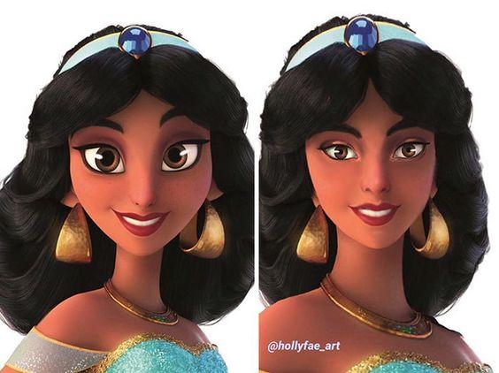Những Nàng Công Chúa Disney Được Holly Fae Vẽ Theo Tỉ Lệ Thật