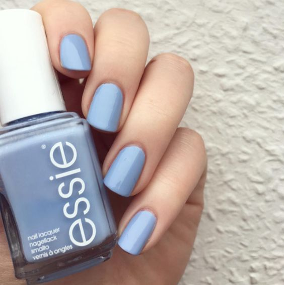 Nothing makes us happier than a sugar sweet atlantic blue 'saltwater happy' mani.: