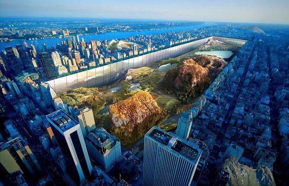 un mur de 1000 pieds autour de Central Park excavé - http://www.2tout2rien.fr/un-mur-de-1000-pieds-autour-de-central-park-excave/