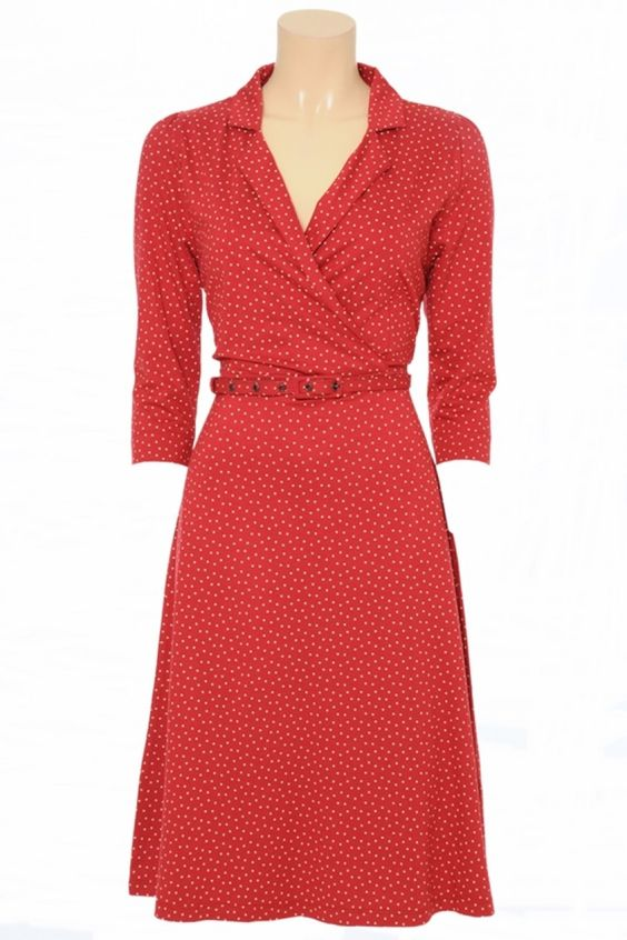 King Louie Kleid Polo Cross Dress Sylvester red